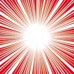 赤い効果線・集中線イラスト