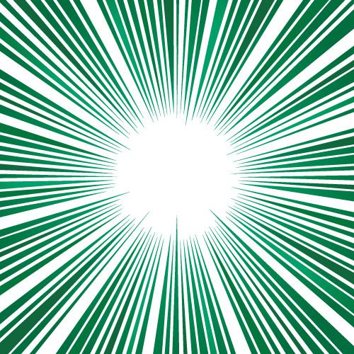 緑色の効果線・集中線
