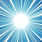 青色の効果線・集中線イラレデータ