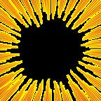 黄色と赤の効果線イラスト