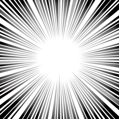 白黒の集中線素材