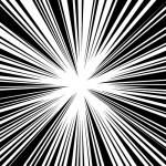 中央に集まる効果線イラスト