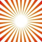 オレンジから赤に変わる集中放射線素材