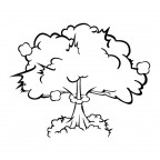 大爆発のきのこ雲イラスト素材