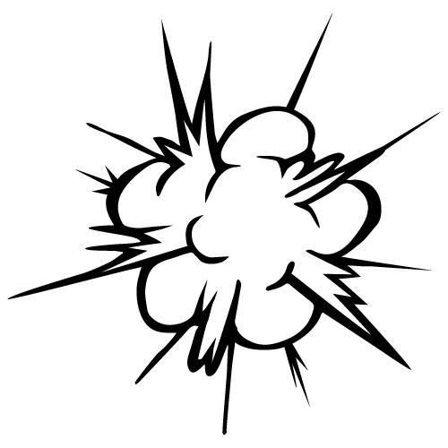 爆発のイラスト素材