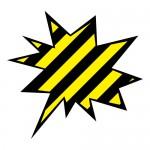 危険な感じがする黒と黄色の吹き出し