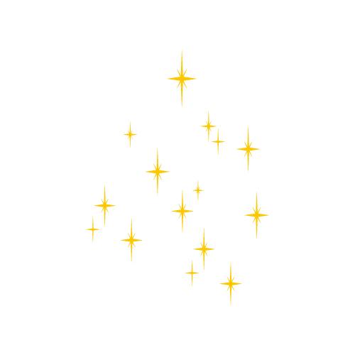 キラキラ光るイラスト素材