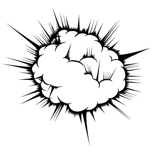 炸裂・爆発のイラスト