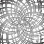 四方向からグルグルと中央に流れる効果