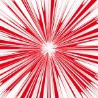 赤い刺々しい集中線・効果線