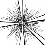 所々途切れた集中線・効果線イラスト