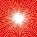 赤い集中線イラスト素材