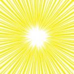 黄色い集中線・効果線イラスト