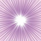 紫色のグラデーション集中線・効果線