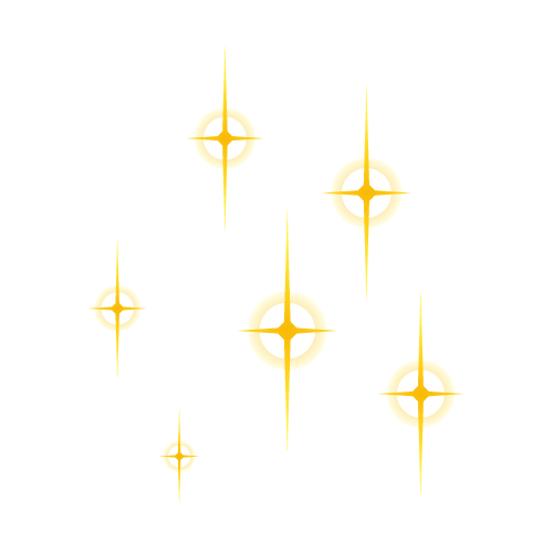 輪っか状にキラキラ光るイラスト