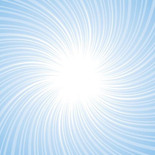 水色の吸い込まれそうな旋回した効果線イラスト