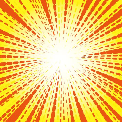 花火のようなの効果線・集中線素材イラスト