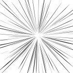 細めの集中線イラスト