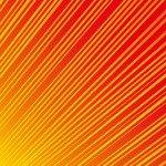 黄色からオレンジに変わる勢いのある効果線