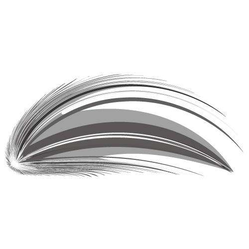 アーチ状の勢いのある効果線イラスト