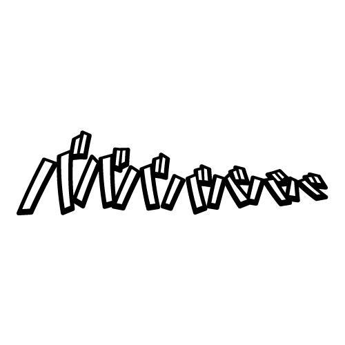 「ババババ」効果音イラスト