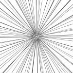 細い線の集中線