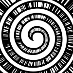 目が回りそうな螺旋と集中線
