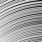 流れるような湾曲した効果線