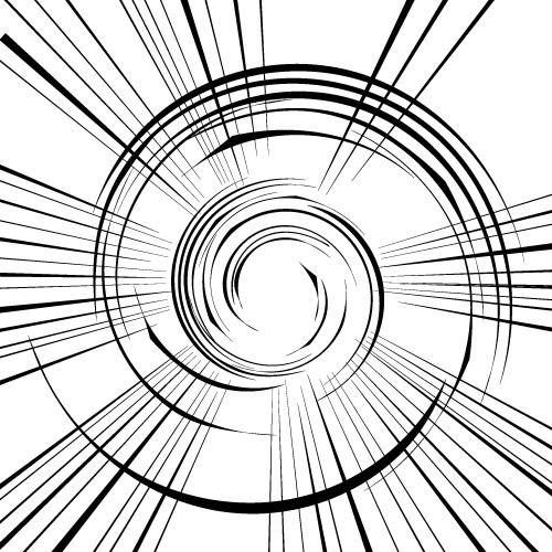 直線と螺旋の効果線・集中線