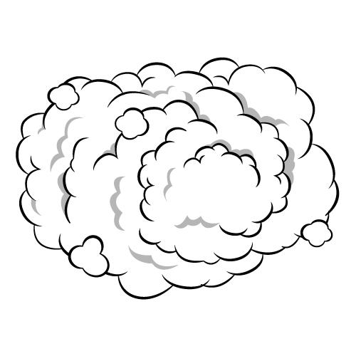 モクモクの煙のイラスト
