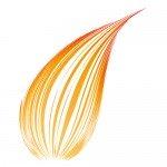 オレンジ アーチ状の効果線