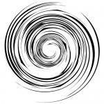 グルグルまわるスパイラル効果線イラスト