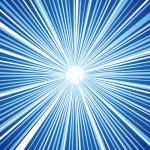 青系統色の集中線