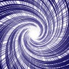 紫色の中央に集中する直線と螺旋の複合効果線