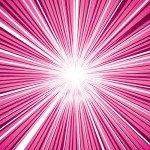 ピンク色の集中線