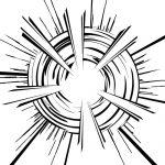 放射状に爆発したような効果線イラスト