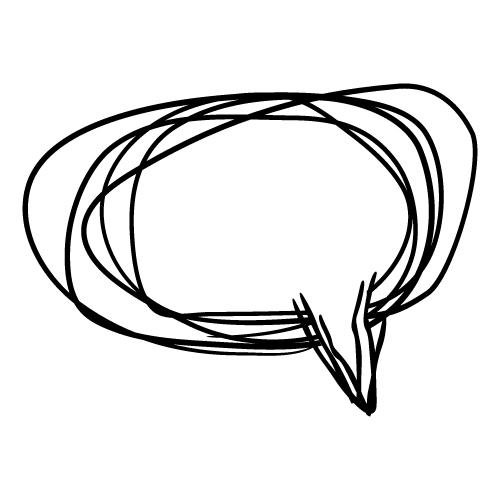 落書きのようなラフなふきだしイラスト