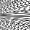 左から右中央に向かう効果線イラスト