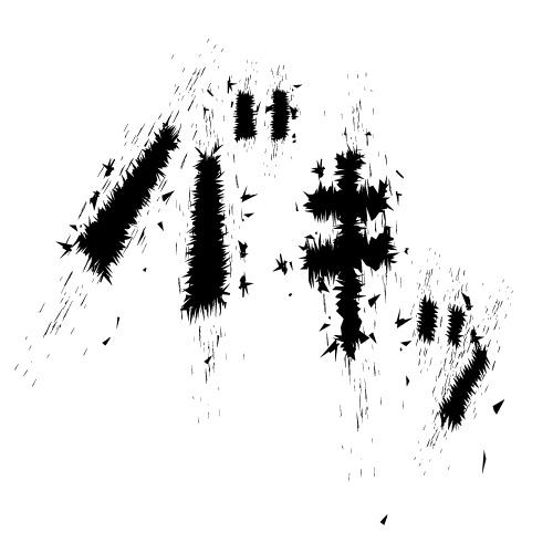 バキッと飛び散る効果音イラスト