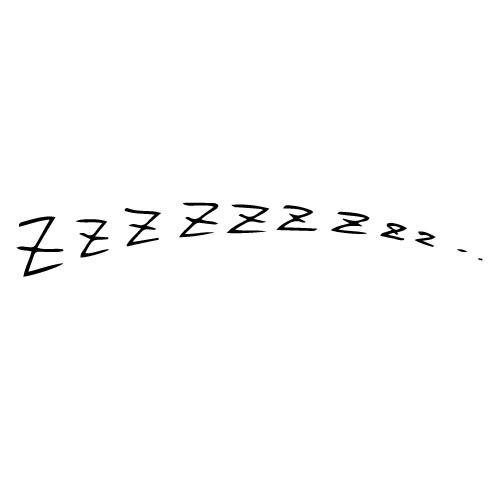 ZZZといびきをかいたような効果音イラスト素材