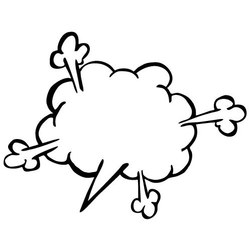 怒ったような爆発風の吹き出しのイラスト